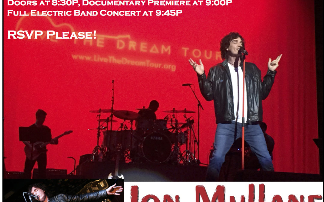 Attend the Jon Mullane – Shine On Documentary!